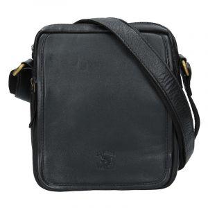 Pánská kožená taška Always Wild Jonas – černá 16175