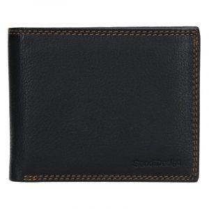 Kožená peněženka SendiDesign Milan – černá 13769