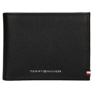 Pánská kožená peněženka Tommy Hilfiger Geonet – černá 110562