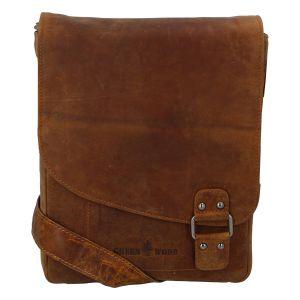Pánská kožená taška světle hnědá – Greenwood Maroon hnědá 270634
