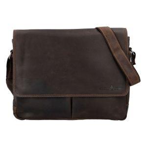 Pánská kožená taška tmavě hnědá – Greenwood Rewrite hnědá 272293