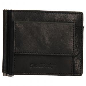 Pánská kožená dolarovka SendiDesign Mauer – černá 110606