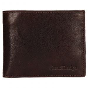 Pánská kožená peněženka SendiDesign Igor – hnědá 110602