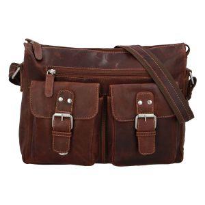 Kožená taška přes rameno hnědá – Greenwood Intrakt hnědá 214889