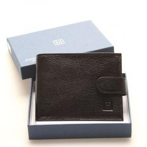 Luxusní pánská černá kožená peněženka – Hexagona Hestia černá 92224