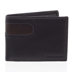 Pánská kožená peněženka tenká černá – SendiDesign Elohi černá 165194