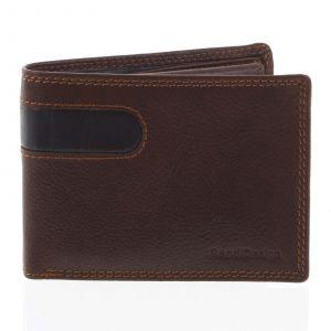 Pánská kožená peněženka tenká hnědá – SendiDesign Elohi hnědá 165196