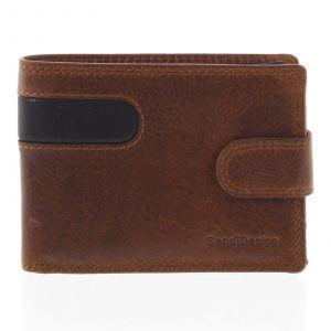 Nejprodávanější pánská kožená peněženka hnědá – SendiDesign Tarsus hnědá 165261