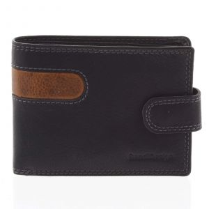 Oblíbená pánská kožená peněženka černá – SendiDesign Igeal černá 165269