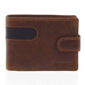 Oblíbená pánská kožená peněženka hnědá – SendiDesign Igeal hnědá 165273