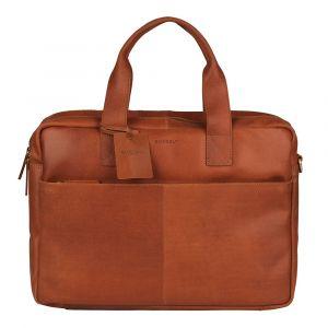 Pánská kožená taška na notebook Burkely David – koňak 110619