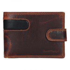Pánská kožená peněženka SendiDesign Martin – hnědo-černá 17640