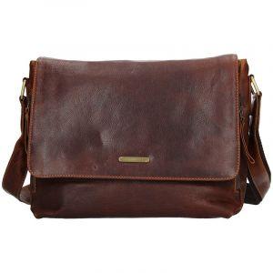 Pánská kožená taška přes rameno SendiDesign Morel – hnědá 11084