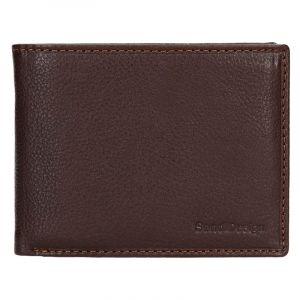 Panska kožená peňaženka SendiDesign Carlos – hnedá 13737