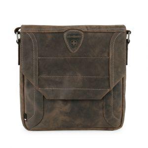Strellson Pánská kožená taška přes rameno Hunter 4010002562 – tmavě hnědá p43694