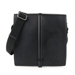 Strellson Pánská kožená taška přes rameno Bakerloo 4010002863 – černá p54880