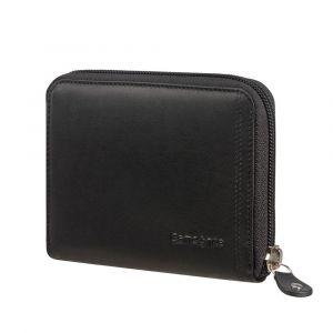 Samsonite Kožená peněženka na zip Attack 2 SLG 323 RFID – černá p54925