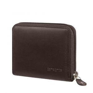 Samsonite Kožená peněženka na zip Attack 2 SLG 323 RFID – tmavě hnědá p54924