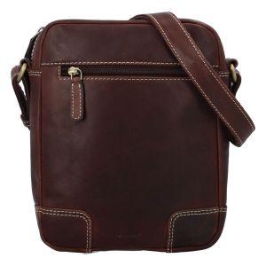 Pánská kožená taška přes rameno Diviley Samuel – hnědá 110678