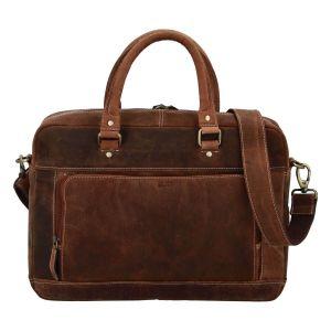 Pánská kožená taška na notebook Diviley Quido – koňak 110675