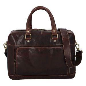 Pánská kožená taška na notebook Diviley Faust – tmavě hnědá 110674