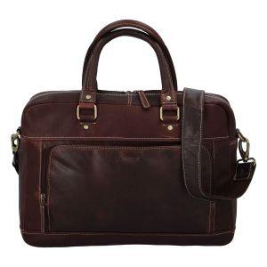 Pánská kožená taška na notebook Diviley Faust – hnědá 110673