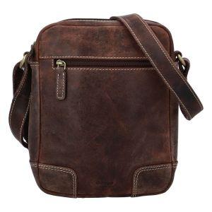 Pánská kožená taška přes rameno Diviley Dylen – hnědá 110681