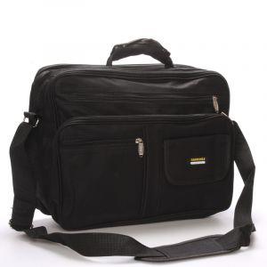 Pánská látková taška přes rameno černá – Sanchez Garen černá 55567