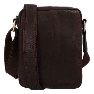 Pánská kožená taška na doklady přes rameno hnědá – SendiDesign Dumont hnědá 277669