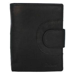 Elegantní pánská kožená černá peněženka – Delami Norm Duo černá 277672