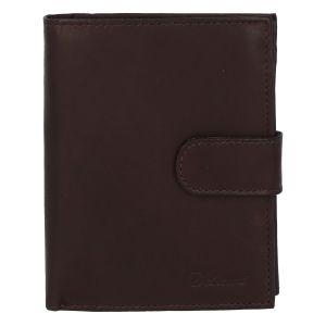 Pánská kožená tmavě hnědá peněženka se zápinkou – Delami Lunivers Duo hnědá 277674