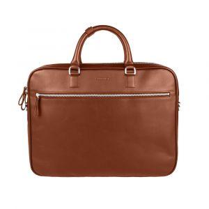 Kožená slim taška na notebook Sandqvist Dag – Cognac Brown p5551