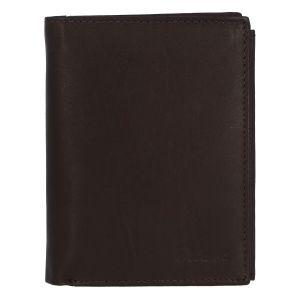 Módní pánská kožená tmavě hnědá peněženka – Delami Marquis hnědá 279542