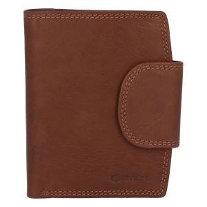 Elegantní světle hnědá kožená peněženka se zápinkou – Diviley Universit hnědá 279537