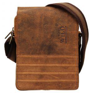 Pánská taška přes rameno Always Wild Robbe – hnědá 110696