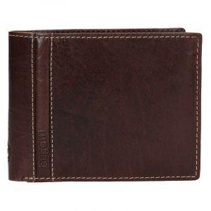 Pánská kožená peněženka Bugatti Gola – hnědá 13127