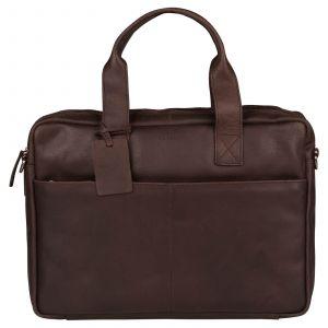 Pánská kožená taška na notebook Burkely Josse – tmavě hnědá 110712