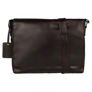 Pánská kožená taška přes rameno Burkely Juul – černá 110708