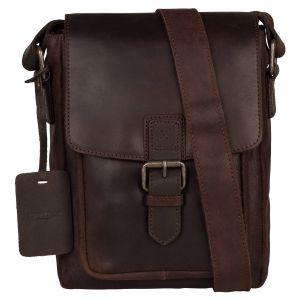 Pánská kožená taška přes rameno Burkely Luke – tmavě hnědá 110707