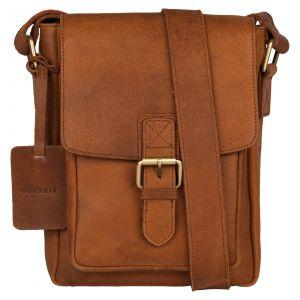Pánská kožená taška přes rameno Burkely Luke – koňak 110706