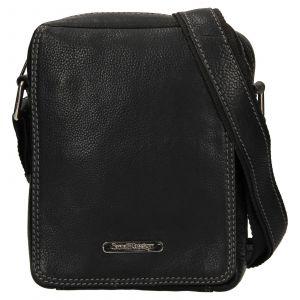 Pánská kožená taška přes rameno SendiDesign Nikk – černá 110704
