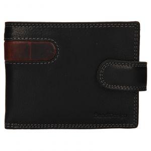 Pánská kožená peněženka SendiDesign Fion – černo-hnědá 110703