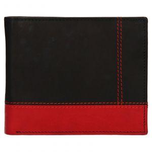 Pánská kožená peněženka Diviley Sileo – černo-červená 110701