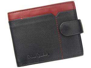 Pánská kožená peněženka Pierre Cardin Uran – černo-červená 11395