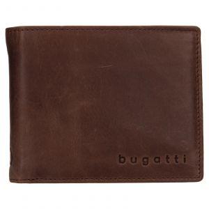 Pánská kožená peněženka Bugatti Michael – tmavě hnědá 110726