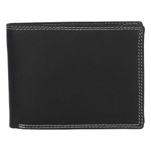 Kožená pánská černá peněženka broušená – ItParr černá 280908