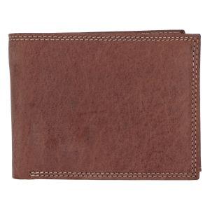Kožená pánská hnědá peněženka broušená – ItParr hnědá 280912