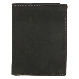 Pánská kožená peněženka černá broušená – Tomas Palac černá 280921