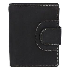 Elegantní kožená peněženka černá broušená – Tomas Pilia černá 280919