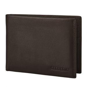 Samsonite Pánská kožená peněženka Attack 2 SLG 005 – tmavě hnědá p55163